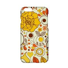 Cute Fall Flower Rose Leaf Star Sunflower Orange Apple Iphone 6/6s Hardshell Case by Alisyart