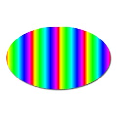 Rainbow Gradient Oval Magnet by Simbadda