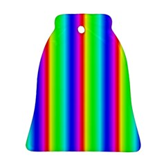 Rainbow Gradient Bell Ornament (two Sides) by Simbadda