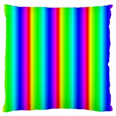 Rainbow Gradient Large Cushion Case (two Sides) by Simbadda