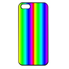 Rainbow Gradient Apple Iphone 5 Seamless Case (black) by Simbadda
