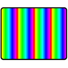 Rainbow Gradient Double Sided Fleece Blanket (medium)  by Simbadda
