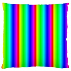 Rainbow Gradient Standard Flano Cushion Case (two Sides) by Simbadda