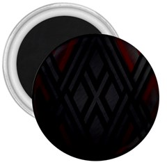 Abstract Dark Simple Red 3  Magnets by Simbadda