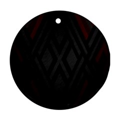 Abstract Dark Simple Red Ornament (round) by Simbadda