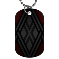 Abstract Dark Simple Red Dog Tag (two Sides) by Simbadda