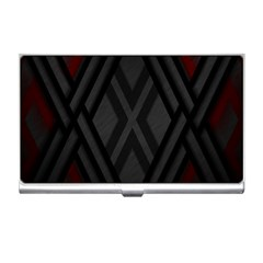 Abstract Dark Simple Red Business Card Holders by Simbadda