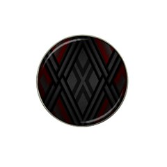 Abstract Dark Simple Red Hat Clip Ball Marker (10 Pack) by Simbadda