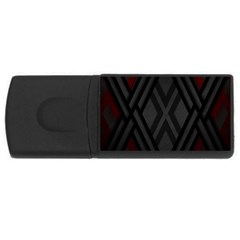 Abstract Dark Simple Red Usb Flash Drive Rectangular (4 Gb) by Simbadda
