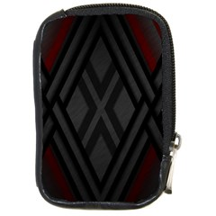 Abstract Dark Simple Red Compact Camera Cases by Simbadda