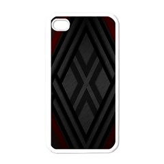 Abstract Dark Simple Red Apple Iphone 4 Case (white) by Simbadda