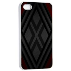 Abstract Dark Simple Red Apple Iphone 4/4s Seamless Case (white) by Simbadda
