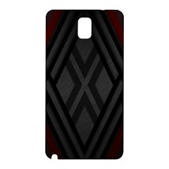 Abstract Dark Simple Red Samsung Galaxy Note 3 N9005 Hardshell Back Case by Simbadda