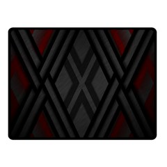 Abstract Dark Simple Red Double Sided Fleece Blanket (Small)  by Simbadda