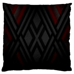 Abstract Dark Simple Red Large Flano Cushion Case (two Sides) by Simbadda