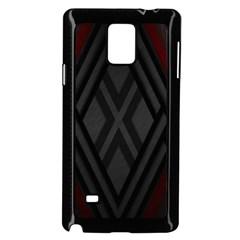 Abstract Dark Simple Red Samsung Galaxy Note 4 Case (black) by Simbadda