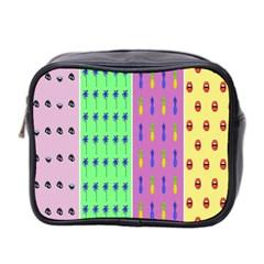 Eye Coconut Palms Lips Pineapple Pink Green Red Yellow Mini Toiletries Bag 2 Side by Alisyart