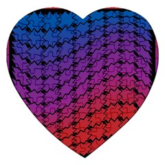 Colorful Red & Blue Gradient Background Jigsaw Puzzle (heart) by Simbadda