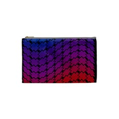 Colorful Red & Blue Gradient Background Cosmetic Bag (small)  by Simbadda
