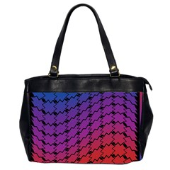 Colorful Red & Blue Gradient Background Office Handbags (2 Sides)  by Simbadda