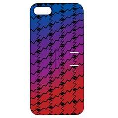 Colorful Red & Blue Gradient Background Apple Iphone 5 Hardshell Case With Stand by Simbadda