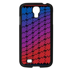 Colorful Red & Blue Gradient Background Samsung Galaxy S4 I9500/ I9505 Case (black) by Simbadda