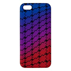 Colorful Red & Blue Gradient Background Iphone 5s/ Se Premium Hardshell Case by Simbadda