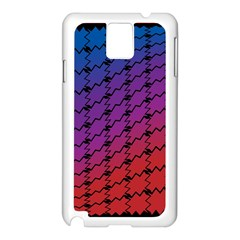 Colorful Red & Blue Gradient Background Samsung Galaxy Note 3 N9005 Case (white) by Simbadda