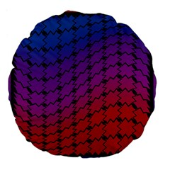 Colorful Red & Blue Gradient Background Large 18  Premium Flano Round Cushions by Simbadda