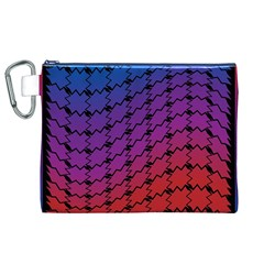 Colorful Red & Blue Gradient Background Canvas Cosmetic Bag (xl) by Simbadda
