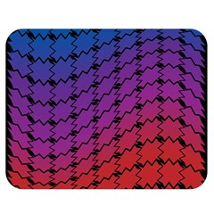 Colorful Red & Blue Gradient Background Double Sided Flano Blanket (medium)  by Simbadda