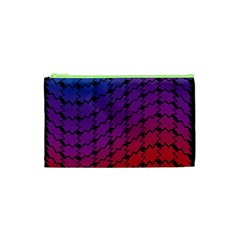 Colorful Red & Blue Gradient Background Cosmetic Bag (xs) by Simbadda