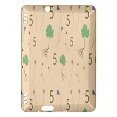 Five Leaf Green Brown Purple Floral Flower Tulip Sunflower Kindle Fire Hdx Hardshell Case by Alisyart