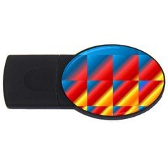 Gradient Map Filter Pack Table Usb Flash Drive Oval (4 Gb) by Simbadda