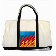 Gradient Map Filter Pack Table Two Tone Tote Bag by Simbadda