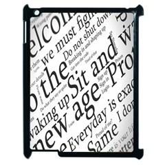 Abstract Minimalistic Text Typography Grayscale Focused Into Newspaper Apple Ipad 2 Case (black) by Simbadda
