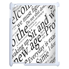 Abstract Minimalistic Text Typography Grayscale Focused Into Newspaper Apple Ipad 2 Case (white) by Simbadda