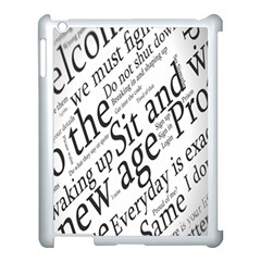 Abstract Minimalistic Text Typography Grayscale Focused Into Newspaper Apple Ipad 3/4 Case (white) by Simbadda