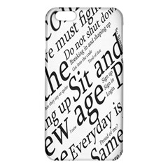 Abstract Minimalistic Text Typography Grayscale Focused Into Newspaper Iphone 6 Plus/6s Plus Tpu Case by Simbadda