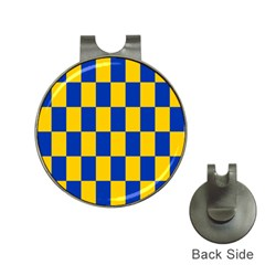 Flag Plaid Blue Yellow Hat Clips With Golf Markers by Alisyart
