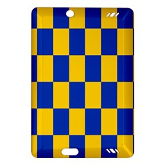 Flag Plaid Blue Yellow Amazon Kindle Fire Hd (2013) Hardshell Case by Alisyart