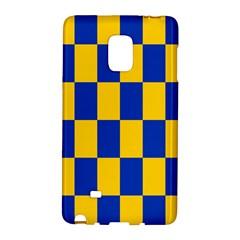 Flag Plaid Blue Yellow Galaxy Note Edge by Alisyart