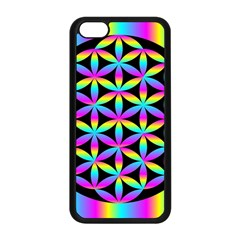 Flower Of Life Gradient Fill Black Circle Plain Apple Iphone 5c Seamless Case (black) by Simbadda