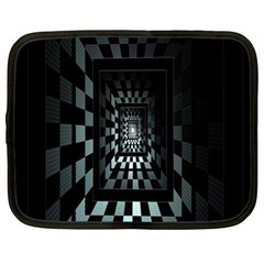 Optical Illusion Square Abstract Geometry Netbook Case (XXL)  by Simbadda