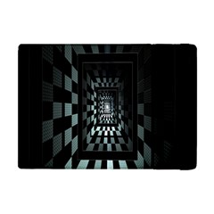 Optical Illusion Square Abstract Geometry Apple Ipad Mini Flip Case by Simbadda