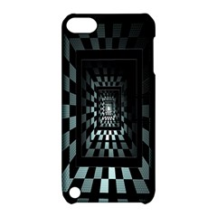 Optical Illusion Square Abstract Geometry Apple iPod Touch 5 Hardshell Case with Stand