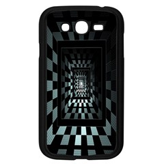 Optical Illusion Square Abstract Geometry Samsung Galaxy Grand Duos I9082 Case (black) by Simbadda