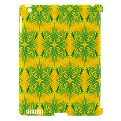Floral Flower Star Sunflower Green Yellow Apple Ipad 3/4 Hardshell Case (compatible With Smart Cover) by Alisyart