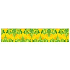 Floral Flower Star Sunflower Green Yellow Flano Scarf (small) by Alisyart