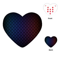 Hexagon Colorful Pattern Gradient Honeycombs Playing Cards (heart)  by Simbadda